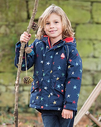 Frugi Marco Explorer Waterproof Coat - Northern Stars - 100% Recycled Polyester Jackets