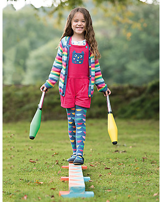 Frugi Norah Tights, Bunting Stripe - Organic Cotton (soft, cosy and non-scratchy!) Tights