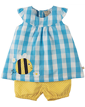 Frugi Orla, Baby Girl's Outfit, Bee – 100% organic cotton Rompers