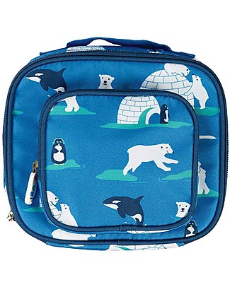 Frugi Pack A Snack Lunch Bag, Polar Play - 100% recycled materials Lunch Boxes