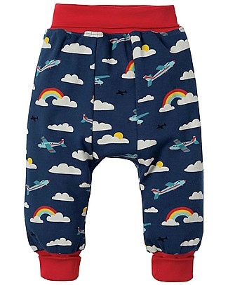 Frugi Parsnip Pants, Marine Blue Fly Away - 100% organic cotton Trousers