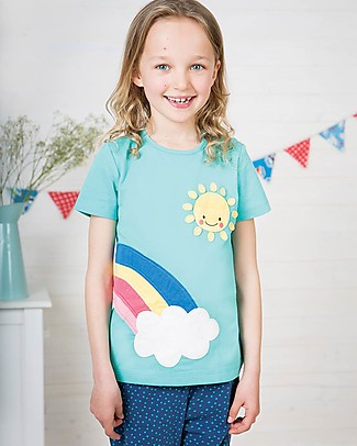 Frugi Petal Pocket PJs, St Agnes/Rainbow - 100% organic cotton Pyjamas