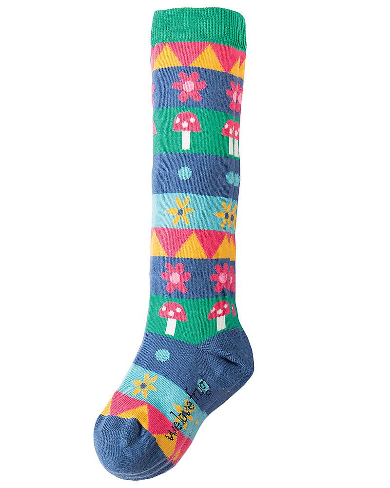050b2bf0a Frugi Pippi, Girl's Long Socks 2 Pack, Fox - Organic cotton Socks