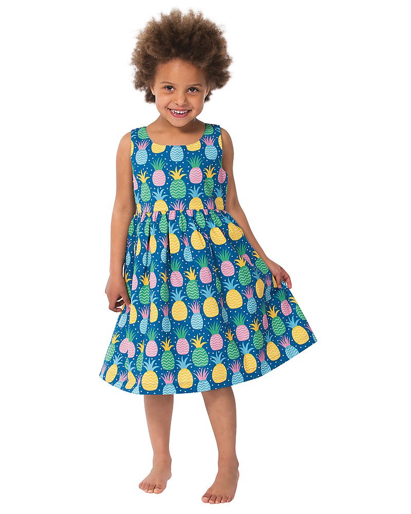 Frugi Porthcurno Party Dress, Sleeveless, Jazzy Pineapple - 100 ...