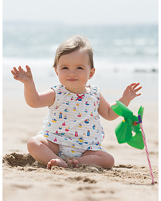 Frugi Pretty Dress Set, Sailaway (dress + knickers) - 100% organic cotton Sets And Co-Ords