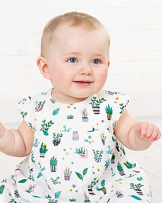 Frugi Pretty Polly Dress Set (dress + knickers), Greenhouse - Organic cotton Sets And Co-Ords