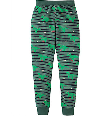 Frugi Printed Snug Joggers with Reinforced Kneepads, Dino Dudes - 100% organic cotton Trousers