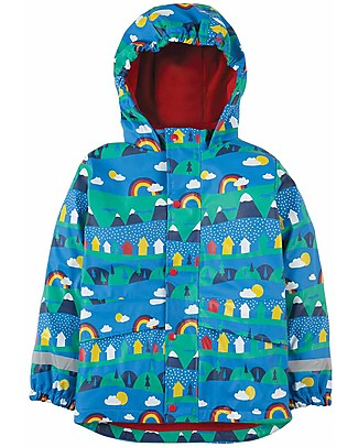 Frugi Puddle Buster Coat, Alpine Town - Welded Seams, 100% Waterproof! Jackets