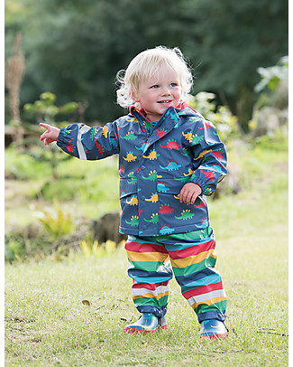 Frugi Puddle Buster Coat, Dino Trek - 100% recycled material! Jackets