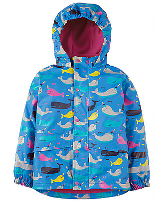 Frugi Puddle Buster Coat, Narwhal Natter - Welded Seams, 100% Waterproof! Jackets
