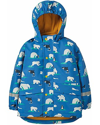 Frugi Puddle Buster Coat, Polar Play - Welded Seams, 100% Waterproof! Jackets