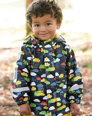 Frugi Puddle Buster Coat, Warm Scandi Skies - Welded Seams, 100% Waterproof! null