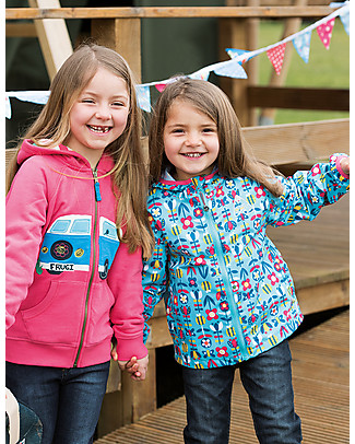 Frugi Puddle Buster Packaway Jacket, Cornish Sea Bloom - 100% recycled! Jackets