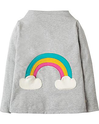 Frugi Rita Reversible Top, Bright Scandi Skies/Grey Marl - Organic cotton Long Sleeves Tops