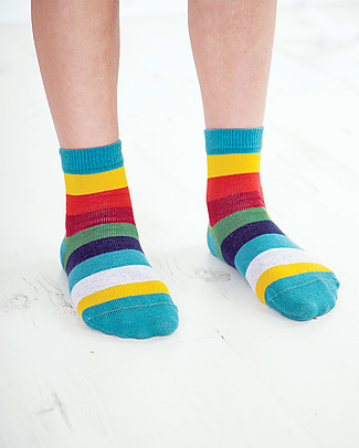 Frugi Rock My Socks 3 Pack, Dino (New Design!) - Organic cotton Socks