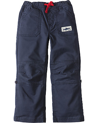 Frugi Sailor Roll Ups, Navy - Organic cotton Trousers
