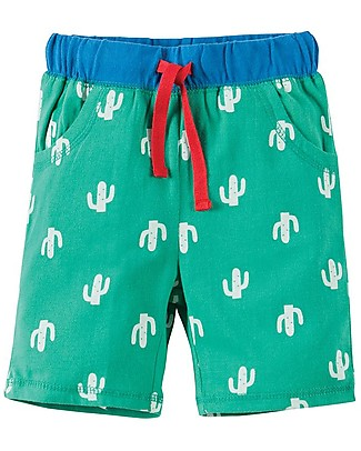 Frugi Sean Shorts, Cactus / Green - 100% Organic cotton Shorts
