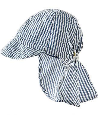 Frugi Seersucker Legionnaires Hat, Seersucker - Organic Cotton Hats