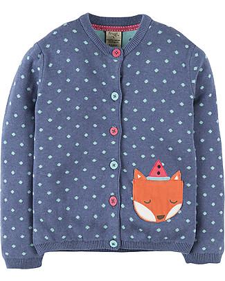 Frugi Seren Cardigan, Navy/Fox - 100% organic cotton Cardigans