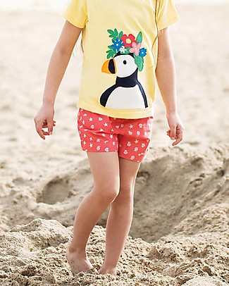 Frugi Seren Shorts, Coral Shell Polka - 100% Organic Cotton Shorts