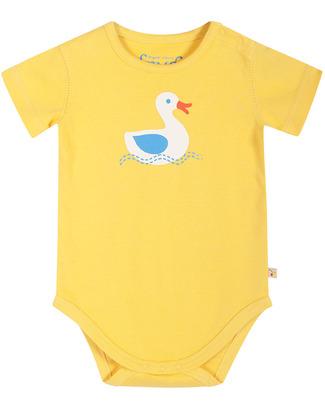 Frugi Short Sleeved Seaside Bodysuit - Yellow - 100% Organic Cotton Short Sleeves Bodies