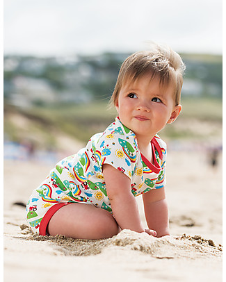 Frugi Short Sleeves Bodysuits, Pack of 3, Happy Days - 100% organic cotton Short Sleeves Bodies