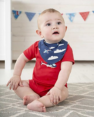 Frugi Short Sleeves Bodysuits, Pack of 3, Planes Multipack - 100% organic cotton Short Sleeves Bodies