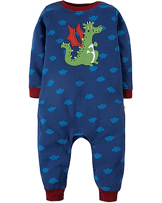Frugi Snug and Cosy Romper, Westward Wind/Dragon - organic cotton Rompers