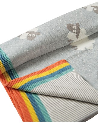 Frugi Snug as a Bug Blanket, Little Lambs - 100% Organic Cotton Blankets