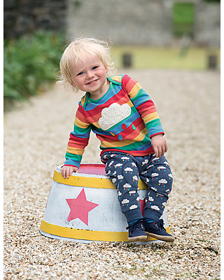 Frugi Snuggle Crawlers, Rainclouds - 100% organic cotton Trousers