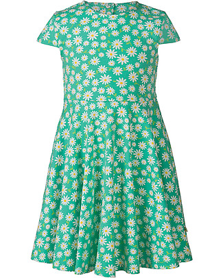Frugi Spring Skater Dress, Daisy Chain - Elasticated organic cotton Dresses