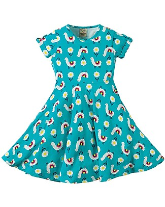 Frugi Spring Skater Dress, Llama Leap - Elasticated organic cotton Dresses
