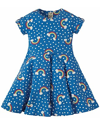 Frugi Spring Skater Dress, Over the Rainbow - Elasticated organic cotton Dresses