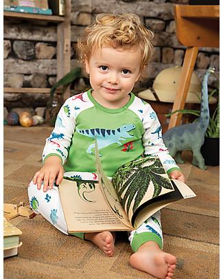 Frugi Stargaze Pyjamas, Meadow/Dino - Organic cotton Pyjamas