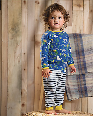 Frugi Stargaze Pyjamas, Moonlit Night - 100% organic cotton Pyjamas