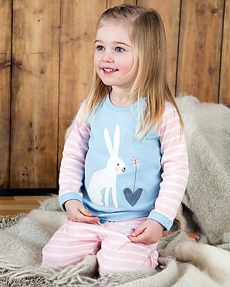 Frugi Stargaze Pyjamas, Shell Pink Breton/Hare - 100% organic cotton Pyjamas
