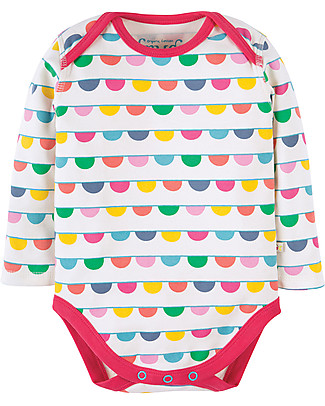 Frugi Super Special 3-Pack Bodysuits, Bunting - 100% organic cotton Long Sleeves Bodies