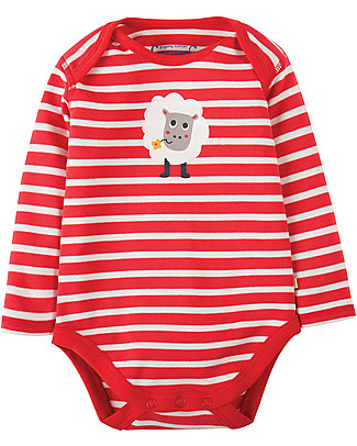 Frugi Super Special 3-Pack Bodysuits, Farm Yard - 100% organic cotton Long Sleeves Bodies