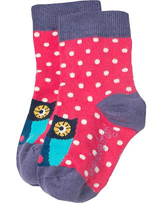 Frugi Susie Socks 3 Pack, Birds and Bears Multipack - Organic Cotton Socks