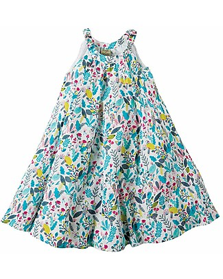 Frugi Tabitha Trapeze Dress - Birdy Paradise - 100% Cotton Dresses