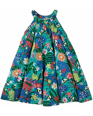 Frugi Tabitha Trapeze Dress - Hothouse Floral - 100% Cotton Special Occasion