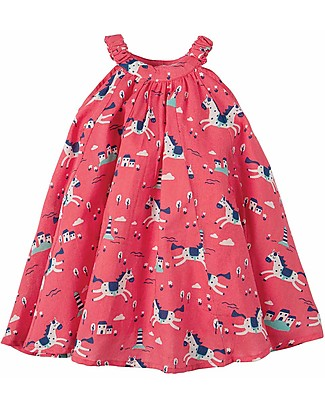 Frugi Tabitha Trapeze Dress - Lyonesse Legend - 100% Organic Cotton Special Occasion