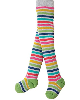 Frugi Toasty Tights, Rainbow Marl Breton - Organic Cotton (soft, cosy and non-scratchy) Tights