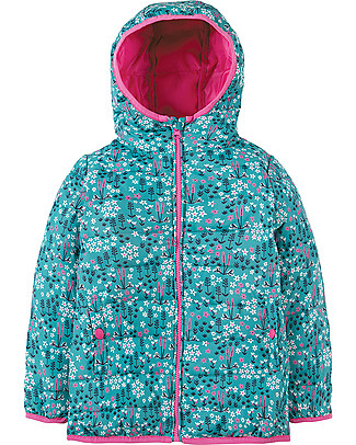 Frugi Toasty Trail Packaway Quilted Jacket, Alpine Meadow - 100% recycled! Jackets