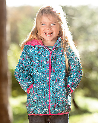Frugi Toasty Trail Packaway Quilted Jacket, Alpine Meadow - Eco-friendly! Jackets