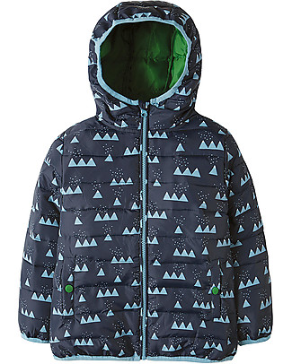 Frugi Toasty Trail Packaway Quilted Jacket, Mountain Range - 100% recycled! Jackets