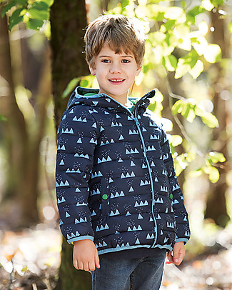 Frugi Toasty Trail Packaway Quilted Jacket, Mountain Range - Eco-friendly! Jackets