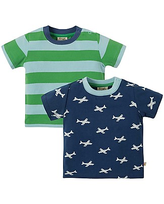 Frugi Tresco T-shirts 2pk - Take Off Multipack - Organic cotton T-Shirts And Vests