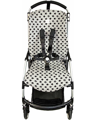 Fun*das bcn Cover for Bugaboo Bee 3 Stroller, Fu Black Star - Elasticated cotton Stroller Accessories