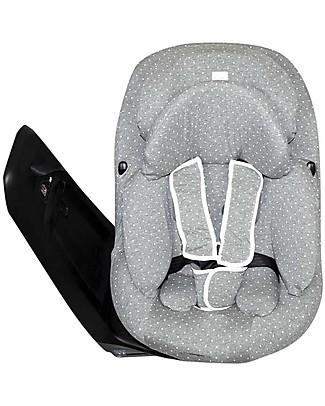 Fun*das bcn Cover for Car Seat Bébé Confort Axissfix 0+/1, Vintage Dot - Elasticated cotton Car Seat Accessories